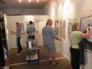 Painting room During Art Aerobics